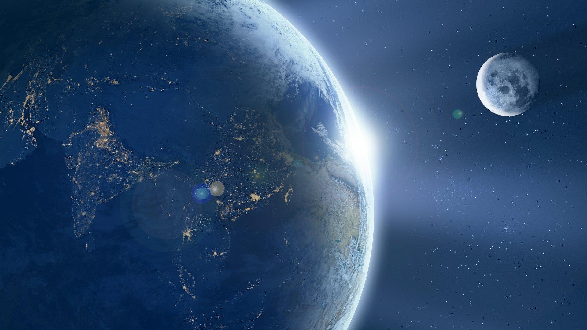 Welt Mond Weltraum